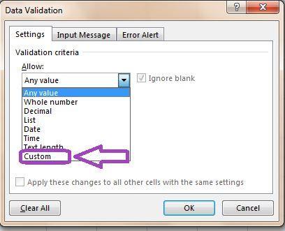 جلوگیری از ورود داده تکراری در اکسل