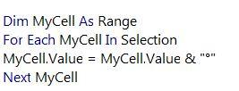 اضافه نمودن علامت درجه به سلول های اکسل