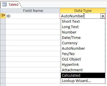 توابع نوع Databaseدر اکسس