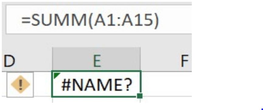 خطای Name# در اکسل